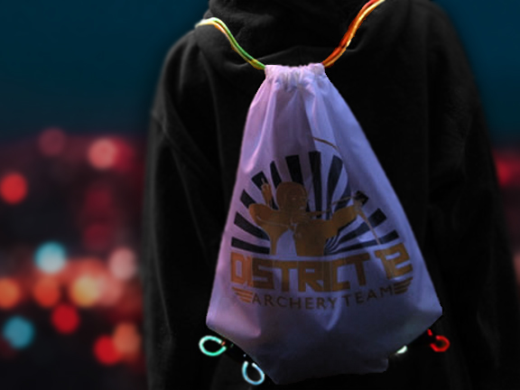 District 12 Archery Customized LED Drawstring Backpack